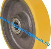 Wheel, Ø 100mm, Vulcanized Polyurethane tread, 300KG