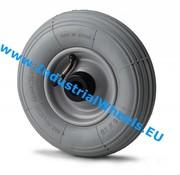 Hjul, Ø 200mm, Dæk langrillet profil, 75KG