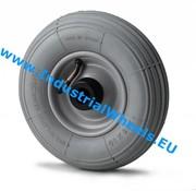 Rueda, Ø 200mm, neumático perfil ranurado, 75KG