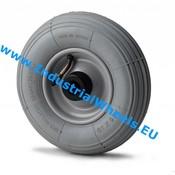 Hjul, Ø 210mm, Dæk langrillet profil, 100KG
