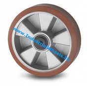 Wheel, Ø 160mm, Vulcanized Polyurethane tread, 600KG
