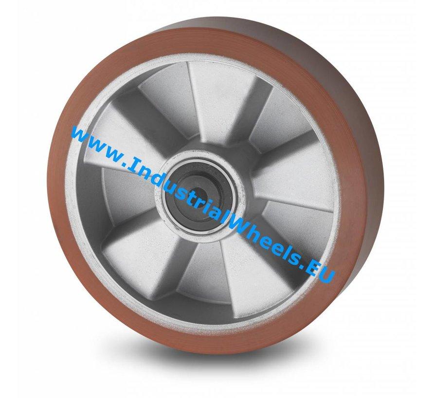 Zestawy kołowe transportowe Koło  lanego poliuretano wulkanizowanej, Precyzyjne łożysko kulkowe, Koło-Ø 160mm, 600KG