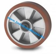 Hjul, Ø 200mm, Vulkaniseret Polyuretan, 800KG