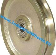 V groove wheel, Ø 150mm, Solid steel, 800KG