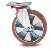 Drejeligt hjul, Ø 160mm, Vulkaniseret Polyuretan, 300KG
