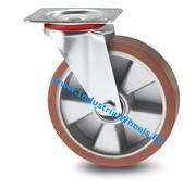 Roda giratória, Ø 160mm, poliuretano fundido, 300KG