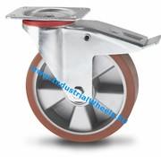 Drejeligt hjul bremse, Ø 160mm, Vulkaniseret Polyuretan, 300KG