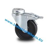 Swivel caster with brake, Ø 50mm, Polypropylene Wheel, 40KG