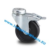 Swivel caster with brake, Ø 75mm, Polypropylene Wheel, 60KG