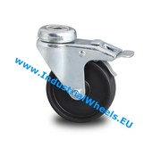 Roda giratória travão, Ø 75mm, polipropileno Roda, 60KG