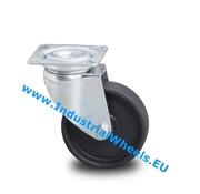 Roulette pivotante, Ø 75mm, polypropylène Roue, 60KG