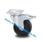 Roulette pivotante avec blocage, Ø 50mm, polypropylène Roue, 40KG