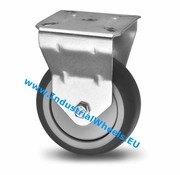 Fixed caster, Ø 50mm, thermoplastic rubber grey non-marking, 50KG