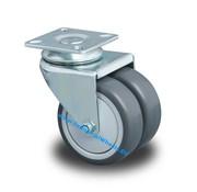 Swivel caster, Ø 75mm, Polypropylene Wheel, 100KG