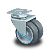 Swivel caster, Ø 75mm, Polypropylene Wheel, 100KG