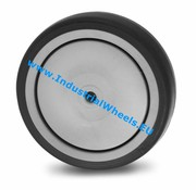 Wheel, Ø 125mm, thermoplastic rubber grey non-marking, 100KG
