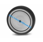 Roue, Ø 125mm, caoutchouc thermoplastique gris non tachant, 100KG