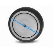 Wheel, Ø 100mm, thermoplastic rubber grey non-marking, 100KG