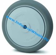 Koło, Ø 80mm, termoplastyczna guma szara, niebrudząca, 100KG