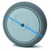 Rad, Ø 100mm, Thermoplastischer Gummi grau-spurlos, 100KG