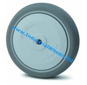 Koło, Ø 125mm, termoplastyczna guma szara, niebrudząca, 100KG