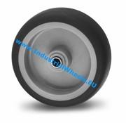 Rad, Ø 100mm, Thermoplastischer Gummi grau-spurlos, 80KG