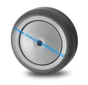 Roue, Ø 75mm, caoutchouc thermoplastique gris non tachant, 75KG