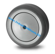 Wheel, Ø 100mm, thermoplastic rubber grey non-marking, 80KG