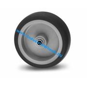 Koło, Ø 50mm, termoplastyczna guma szara, niebrudząca, 50KG