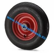 Hjul, Ø 405mm, Dæk blokprofil, 400KG