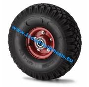 Wheel, Ø 300mm, pneumatic tyre block profile, 300KG