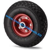 Wheel, Ø 260mm, pneumatic tyre block profile, 210KG