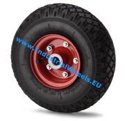 Hjul, Ø 260mm, pneumatisk däckblockprofil, 210KG