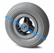 Roda, Ø 150mm, rodagem pneumática perfil ranhurado, 75KG