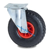 Swivel caster, Ø 260mm, pneumatic tyre block profile, 150KG