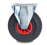 Roda fixa, Ø 260mm, rodagem pneumática dolgu profilli, 150KG