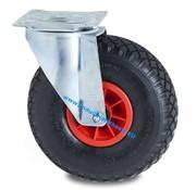 Swivel castor, Ø 260mm, pneumatic tyre block profile, 150KG