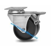 Roulette pivotante avec blocage, Ø 75mm, polypropylène Roue, 100KG