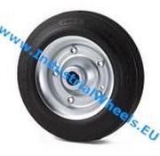 Wheel, Ø 200mm, rubber, black, 250KG