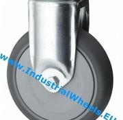 Bockrolle, Ø 80mm, Thermoplastischer Gummi grau-spurlos, 100KG