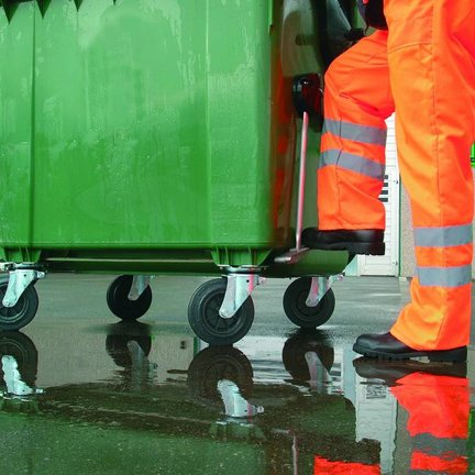 Castor Wheels for Waste Containers - Rubber Wheel