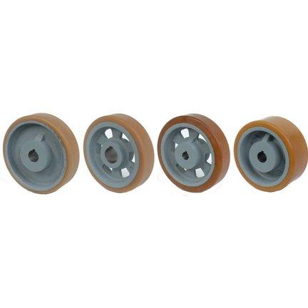 Vulkollan® Traction Wheels with Keyway