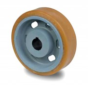 Drivhjul, Hjulfælg Vulkollan® Bayer hjulbane støbegods, Ø 250x65mm, 1350KG