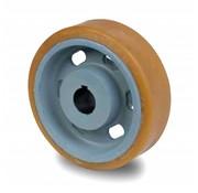 Roulettes de manutention Vulkollan® Bayer roues bandage de roulement Corps de roue fonte, Ø 200x65mm, 1100KG