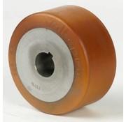 Drivhjul, Hjulfælg Vulkollan® Bayer hjulbane støbegods, Ø 125x65mm, 675KG