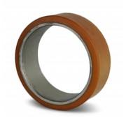 Vulkollan® cylindrical press-on tyres, Ø 600x140mm, 7625KG