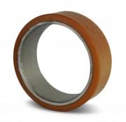 Vulkollan® cylindrical press-on tyres, Ø 220x60mm, 1200KG