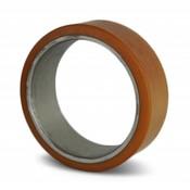 Vulkollan® cylindrical press-on tyres, Ø 125x40mm, 450KG
