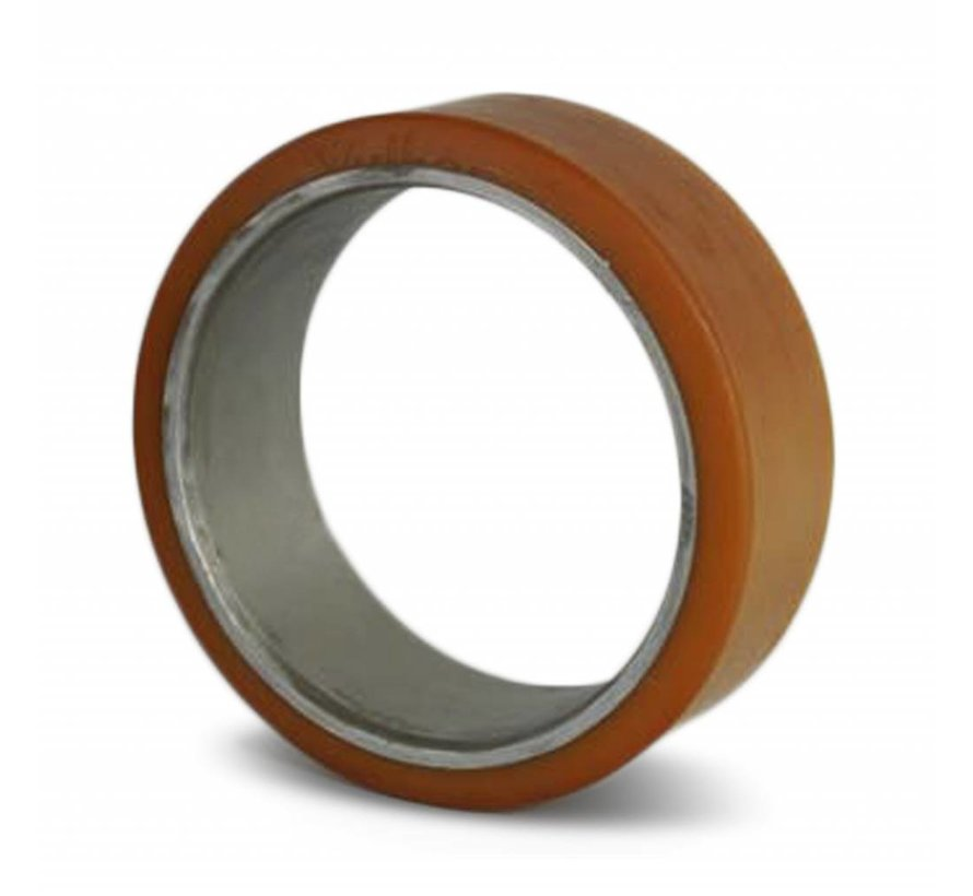 rodas do forklift Vulkollan ® cilíndrica imprensa sobre pneus con Vulkollan ® cilíndrica imprensa sobre pneus, , Roda-Ø 125mm, 300KG