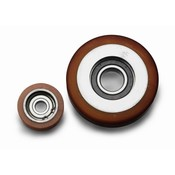 Vulkollan ® styreruller Vulkollan® Bayer hjulbane kerne af stål, Ø 100x25mm, 210KG